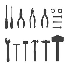 Vector Icons Of Different Tool...