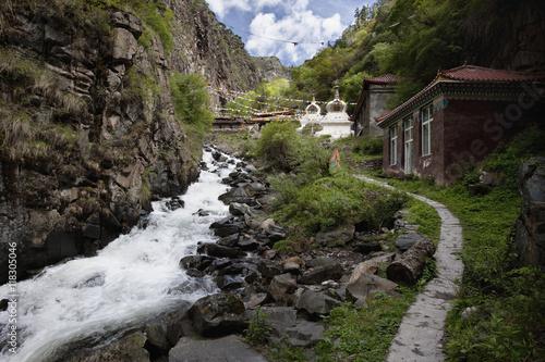 Kandru Village, Tibet Poster