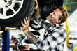 Garage Motor Maintenance Mechanic Fixing Spare Concept