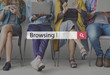 Leinwandbild Motiv Browsing Searching Internet Online Browse Concept