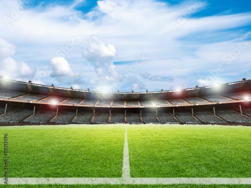 Aluminium Prints Stadion stadium with soccer field