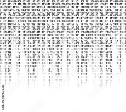 Virtual computer binary code abstract background Wallpaper Mural
