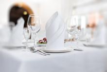 Stylish Table Set For Wedding Dinner