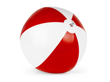 Beach Ball Isolated On Pure Wh...