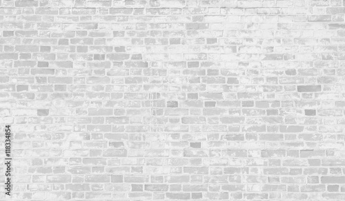 Garden Poster Brick wall Faded white brick wall background.