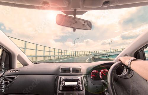 Fotografie, Obraz  高速道路の車窓