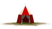 Medieval Knight Tent Isolated ...