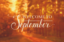 Welcome To September Vector Ba...