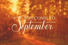 Welcome To September Vector Ba...