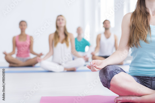 Foto op Aluminium School de yoga Imagine your happy place