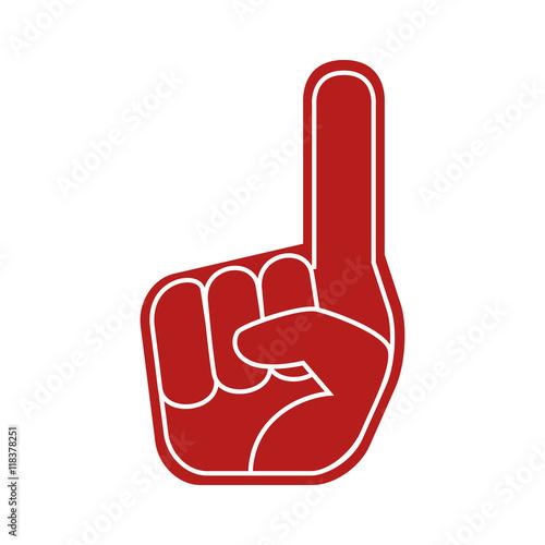 Valokuva foam finger sport icon vector