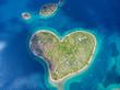 Leinwandbild Motiv Aerial view of the heart shaped Galesnjak island on the adriatic coast.
