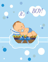 It Is A Boy Baby Shower Invitation Card