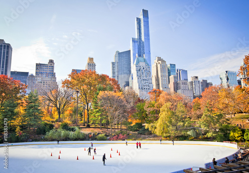 Foto op Aluminium New York Ice rink
