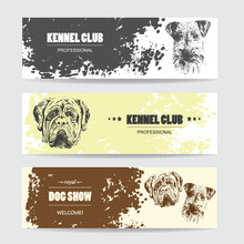 Kennel Club Horizontal Banners Set