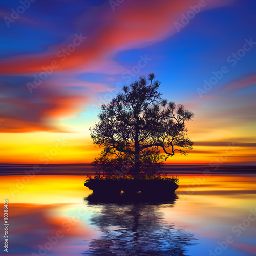 Foto op Plexiglas Crimson beautiful landscape
