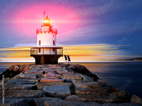Garden Poster Lighthouse Lighthouse