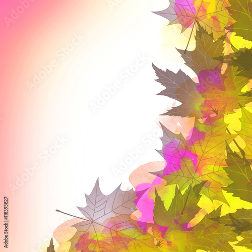 Photo Background from autumn leaves