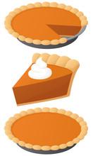 Vector Illustration Of A Pumpk...