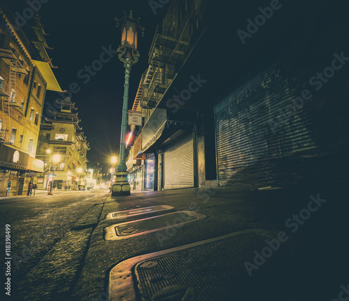 Canvas Prints Narrow alley Chinatown