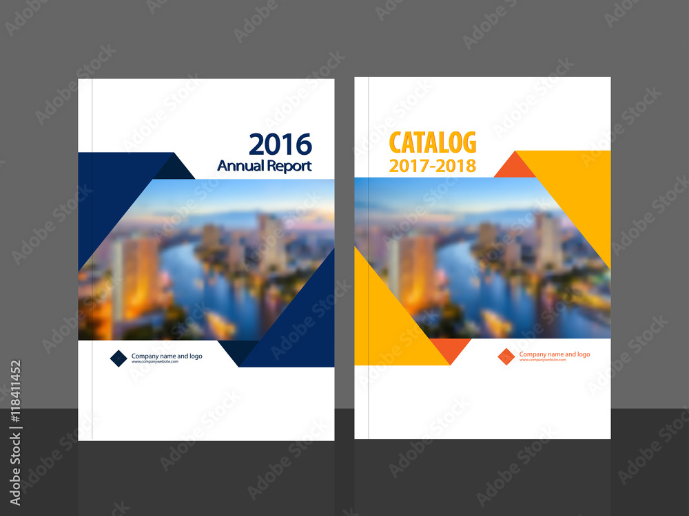 Fototapeta Cover design for annual report and business catalog, magazine, flyer or booklet. Brochure template layout. A4 cover vector EPS-10 sample image with Gradient Mesh.