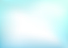 Abstract Light Blue Blurred Ve...