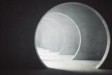 Fototapeta Fototapety do przedpokoju - Textured concrete tunnel