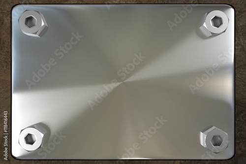 blank metal board Canvas Print