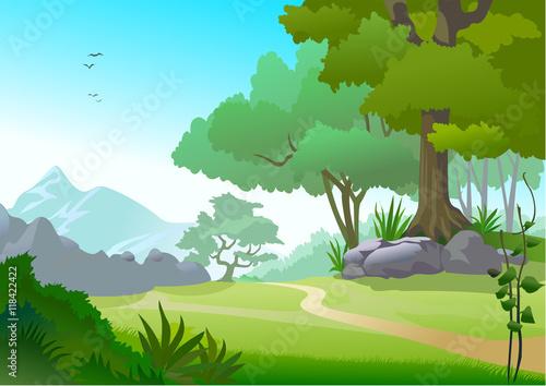 Foto op Canvas Lime groen Nature Landscape