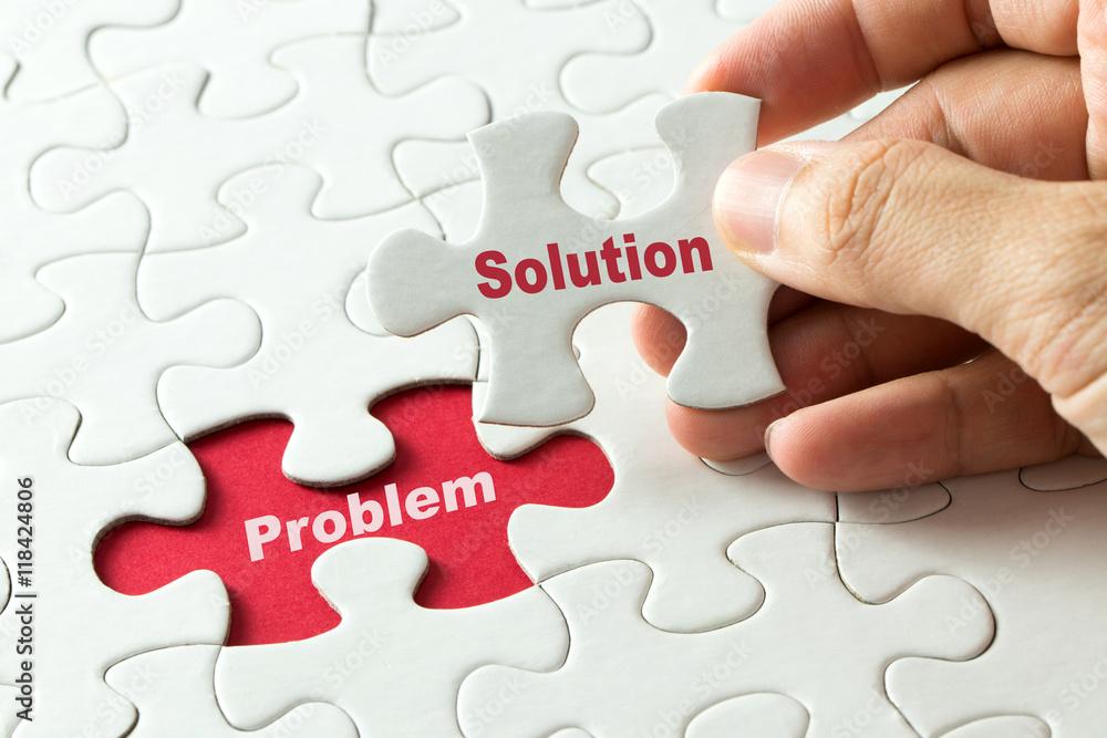 Fototapeta Solution for problem for business metaphor