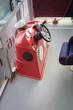 Steering wheel of motor boat