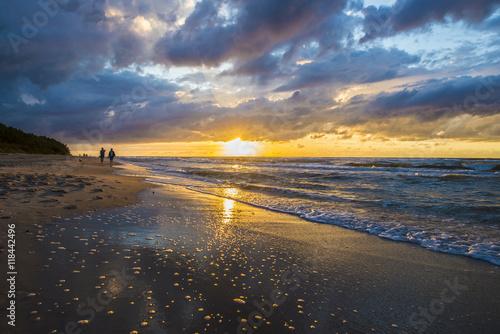 Fototapeta Zachód słońca nad Bałtykiem obraz