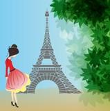 Fototapeta Wieża Eiffla - Na spacerze w Paryżu,