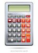 Calculator on white background, version 3, vector illustration
