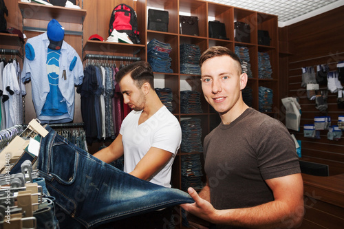 Fotografie, Obraz  guys in a clothing store