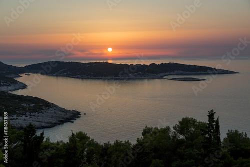 Fotografie, Obraz  Vis,Kroatien,Sonnenuntergang