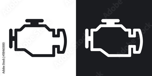 Fotografiet  Vector engine icon