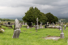 Old Celtic Cemetery Graveyard In Ireland