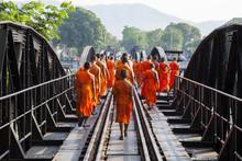 Bridge River Kwai, Kanchanaburi, Thailand .