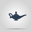 Magic lamp Icon. Concept illustration for design