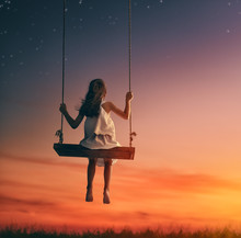 Child Girl On Swing