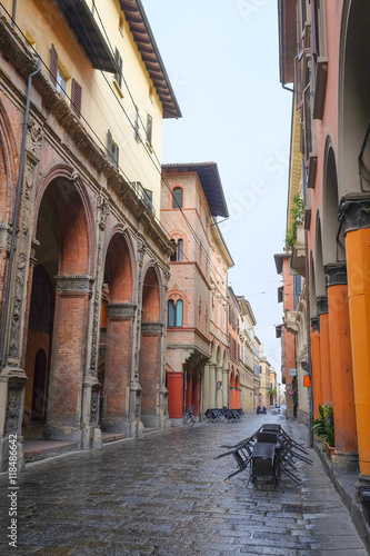 Foto op Plexiglas Havana Bologna, Italy - June, 18, 2016: street in a center of an old town in Bologna, Italy