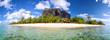 Leinwandbild Motiv Mauritius Island panorama with Le Morne Brabant mount