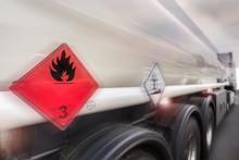 Gasoline Transporter Speeding On Highway