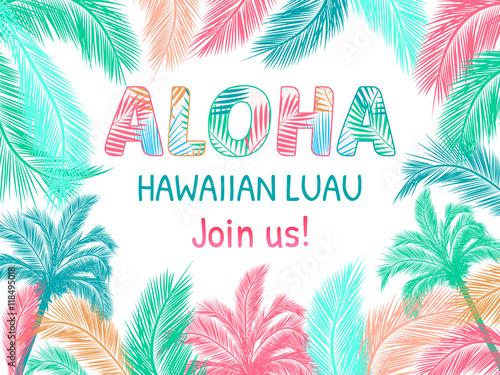 Aloha hawaiian party template invitation buy this stock vector aloha hawaiian party template invitation stopboris Gallery