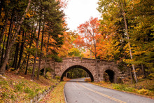 Beautiful Fall Colors Of Acadia National Park In Maine