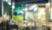 Blurred Coffee Shop Or Restaur...