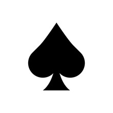 Playing Card Spade Suit Flat Icon