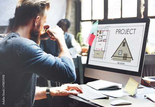 Fotografía  Project Plan Strategy Estimate Collaboration Job Concept