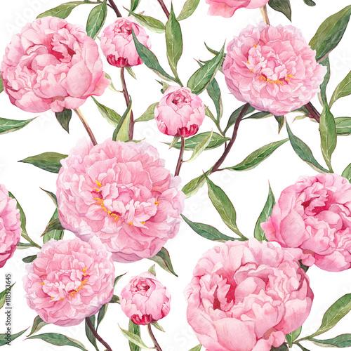 kwiaty-piwonii-rozowe-kwiatowy-wzor-akwarela